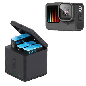 Triple-Battery Charger for GoPro HERO9 Fast Charging Box Case Camera Accessories