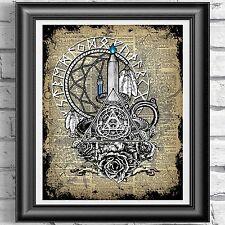 Dreamcatcher Candel y Cristal en la página de diccionario, wicca pagano brujería