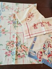 Vintage Lot of Four Linens