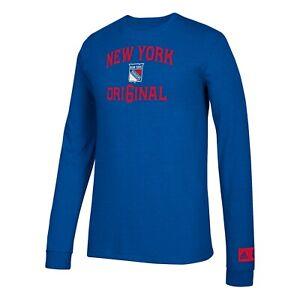 "New York Rangers NHL Adidas Men's ""True Original"" Blue Long Sleeve Shirt"