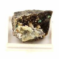 Fluorit, Malachit, Azurit, Sphalerit. 100.5 Ct. Vézelay, Frankreich. Selten