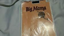 Vintage Big Mama Pantyhose Size Large 170-205lb jet black new sealed package
