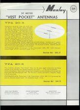 Rare Vintage Original Mosley VPA 20-3/2 40-2 Ham Radio Antenna Dealer Sheet Page