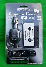 Euroson Adaptador Cassette mp3 iPod Smartphone DVD CD MiniDisc