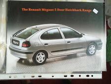Renault Megane 5 door Hatchback brochure c1997