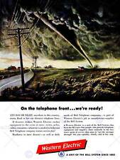 ADVERT WESTERN ELECTRIC TELEPHONE STORM TORNADO TWISTER POSTER PRINT ABB6332B