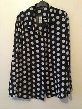 Atmosphere Ladies Black / White Polka Dot Blouse - Size 20 - New With Tags