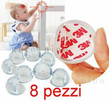 8 paraspigoli bambini in gomma adesivo per protezione di sicurezza bambino bimbo