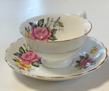 Vintage Royal Grafton Bone China Teacup and Saucer Made in England