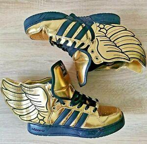 Adidas Jeremy Scott  Wings 2.0 Gold Sneakers 2010 Rare  Men's Size - 7.5