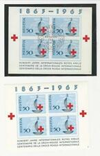 Switzerland, Postage Stamp, #428 Mint NH & Used Sheets, 1963 Red Cross (p)