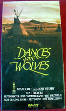 Dances With Wolves-Kevin Costner-VHS-Premium Video Factory Sealed-Orion-FREE S&H