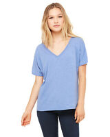 Bella Canvas Ladies Premium Slouchy Flowy V-Neck S-2XL T-Shirt M-8815