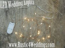 LED string lights, LED fairy lights, rustic wedding lighting, battery USA