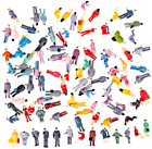 Haoun 100Pcs Miniature Figures Model, HO Scale 1:87 Seated and Standing People F