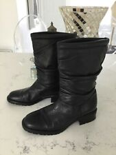 Clarks black leather ankle boots size 5