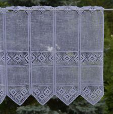 Bistrogardine nach Maß Scheibengardine Jacquard Panneaux Meterware Höhe 60 cm