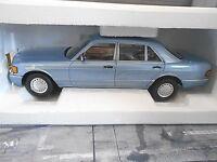 MERCEDES BENZ S-Klasse W126 hell blau blue 560 SEL 1990 Norev limited 1:18 NEU