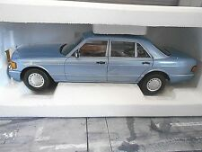 MERCEDES BENZ CLASSE S w126 Marrone Blu Blue 560 SEL 1990 NOREV Limited 1:18 NUOVO
