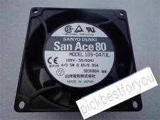 SANYO 109-047UL AC100V 80*80*42MM cooling fan #M62A QL