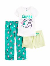 Carter's Girls' 3-Piece Pajamas Set Super Ready For Bed Superhero Print SIZE 4