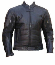 Batman Men's Races Motorcycle Leather Jacket Cowhide Black Sports Jacket