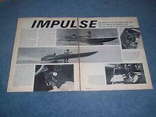 "18-Foot Hallett Flat-Bottomed Drag Boat Vintage Article ""Impulse"" 409 Chevy"