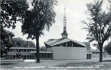 Manchester Iowa~First Methodist Church~1950s Real Photo Postcard~RPPC