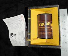 Vintage Black Gold 100% Genuine AMERICAN Crude Oil Barrel .000186