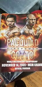 Manny Pacquiao Miguel Cotto Boxing Program Autograph!