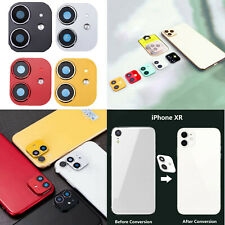 Camera Lens Sticker Metal Protector Cover Case For iPhone XR Change to iPhone 11