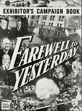 FAREWELL TO YESTERDAY pressbook, Fox history of 1920-1950 RARE HISTORY FILM