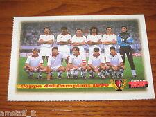 * CARTOLINA POSTCARD CALCIO MILAN COPPA CAMPIONI 1990 LE GRANDI VITTORIE