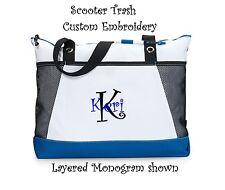 Personalized Tote bag book monogram royal blue diaper business Teacher Nurse NEW