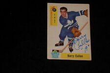 BARRY CULLEN 1958-59 PARKHURST SIGNED AUTOGRAPHED CARD #31 MAPLE LEAFS