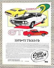 1970 1971 FORD TORINO FAIRLANE & COBRA & GT 351 429 CAR LITERATURE FACT SHEET 56