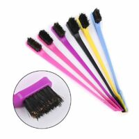 3 X Edge Control Brush Double Sided Comb Hair Gel Smooth Natural Color Available