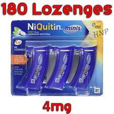 NiQuitin Minis Mint 4mg Lozenges - 60 Mint Lozenges (3 Boxes - total 180) 3/2022