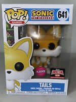 Funko POP! Sonic the Hedgehog #641 TAILS FLOCKED LIMITED EDITION TARGET CON 2021