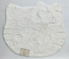 NEW Pottery Barn TEEN Hello Kitty® Shaped Carved Bath Mat Rug~White