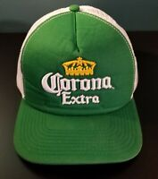 Vintage Rare Corona Extra Snapback Hat Cap Green with white mesh Pre-Owned