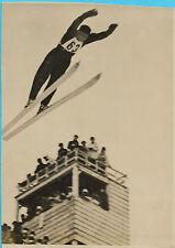 PHOTO de PRESSE N.Y.T. + 1938 + SKI au JAPON + Un saut pendant l'entraînement