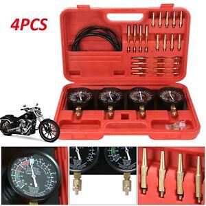 4X Motorcycle Fuel Vacuum Carburetor Carb Synchronizer Balancer Gauge Kits
