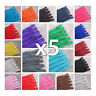 x 5 x CLOSED END No.3 NYLON ZIPS *24 COLOURS & 10 LENGTHS* ZIPPER SEWING 5 ZIPS