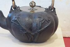 JAPANESE CAST IRON TEAPOT BAMBOO DESIGN