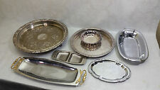 Silver Plated Copper Serving Tray LOT of 7 Camelot & More