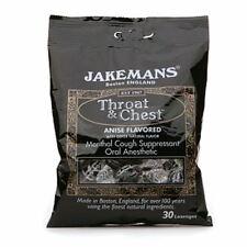 Jakemans Throat - Chest Lozenges, Anise Menthol 30 ea