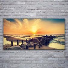 Acrylglasbilder Wandbilder aus Plexiglas® 120x60 Strand Steine Meer Landschaft