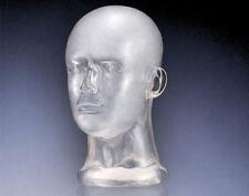 Deko Kopf aus Glas | Kopfhörer Glaskopf | transparent | exklusives Retro Design