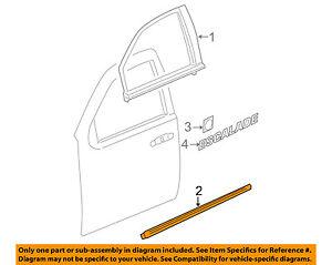 Cadillac GM OEM 07-14 Escalade FRONT DOOR-Body Side Molding Left 15876405
